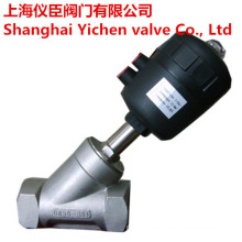 Pneumatic Angle Seat Valve Stainless Steel 304/316 Thread Valve